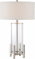Lite Source LS-22684 Tova Modern Polished Steel Table Top Lamp