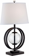 Lite Source LS-22687 Herbert Contemporary Black Side Table Lamp