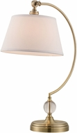 Lite Source LS-22690 Dickens Modern Antique Brass Table Light