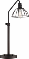 Lite Source LS-22835 Modern Burnished Bronze Table Lamp Lighting