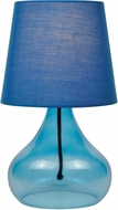 Lite Source LS-22960BLU Modern Blue Fluorescent Table Lighting