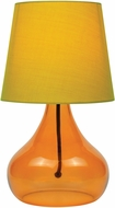 Lite Source LS-22960ORN Contemporary Orange Fluorescent Lighting Table Lamp