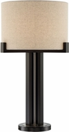 Lite Source LS-23020 Barend Contemporary Dark Walnut Side Table Lamp