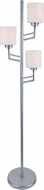 Lite Source LS-82785PS Winston Contemporary Polished Steel Finish 64  Tall Lighting Floor Lamp