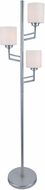 Lite Source LS-82785PS Winston Modern Polished Steel Lighting Floor Lamp
