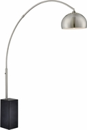Lite Source LS-82939 Triton Contemporary Brushed Nickel Fluorescent Floor Lamp Light