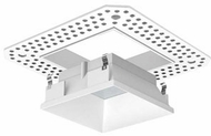 Liton LRXQ302W 3  12W LED Square Downlights Contemporary White Finish Indoor / Outdoor Square Trimless LED Lensed Reflector