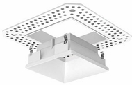 Liton LRXQ321W 3  12W LED Square Downlights Modern White Finish Interior / Exterior Square Trimless LED Open Reflector