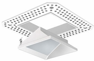 Liton LRXQ371W 3  12W LED Square Downlights Contemporary White Finish Indoor / Outdoor Square Trimless LED Lensed Wall Wash