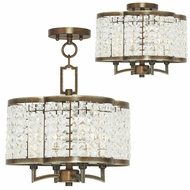 Livex 50574-64 Grammercy Hand Painted Palacial Bronze Mini Lighting Chandelier / Ceiling Light