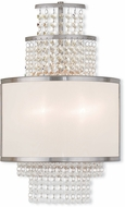 Livex 50782-91 Prescott Brushed Nickel ADA Sconce Lighting