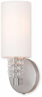 Livex 51030-91 Carlisle Brushed Nickel ADA Wall Sconce