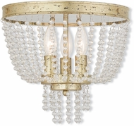 Livex 51864-28 Valentina Hand Applied Winter Gold Home Ceiling Lighting