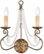Livex 51902-36 Isabella Hand Applied European Bronze Wall Mounted Lamp