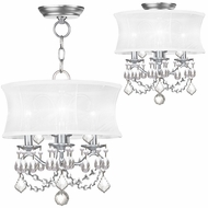 Livex 6303-91 Newcastle Brushed Nickel Drum Hanging Light / Flush Lighting