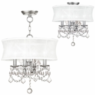 Livex 6304-91 Newcastle Brushed Nickel Drum Pendant Lighting Fixture / Overhead Lighting