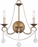 Livex 6512-48 Pennington Antique Gold Leaf Wall Sconce Lighting