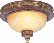 Livex 8541-64 Seville Traditional Palacial Bronze with Gilded Accents 11  Flush Ceiling Light Fixture