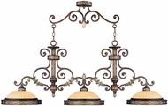 Livex 8546-64 Seville Traditional Palacial Bronze with Gilded Accents Island Light Fixture