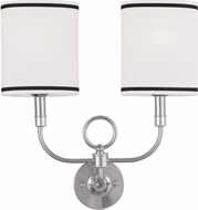 Livex 9122-91 Brushed Nickel Sconce Lighting