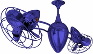 Matthews AR-BLUE-MTL Ar Ruthiane Modern Blue Interior/Exterior 48  Rotational Home Ceiling Fan with Metal Blades