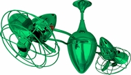 Matthews AR-GREEN-MTL Ar Ruthiane Modern Green Interior/Exterior 48  Rotational Home Ceiling Fan with Metal Blades
