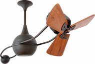 Matthews B2K-BZ-WD Brisa 2000 Contemporary Bronze 40  Rotational Mahogany Blade Home Ceiling Fan