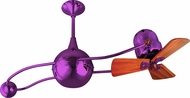 Matthews B2K-LTPURPLE-WD Brisa 2000 Modern Light Purple Interior/Exterior 40  Rotational Mahogany Blade Ceiling Fan