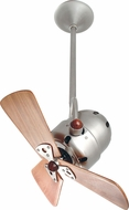 Matthews BD-BN-WD Bianca Direcional Contemporary Brushed Nickel Interior/Exterior 16  Directional Mahogany Blade Ceiling Fan