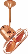 Matthews BD-CP-MTL Bianca Direcional Contemporary Polished Copper Interior/Exterior 16  Directional Metal Blade Ceiling Fan
