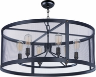 Maxim 20115BKNAB Palladium Black / Natural Aged Brass Drum Hanging Lamp