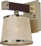 Maxim 20521AFAPSBR Maritime Antique Pecan and Satin Brass Lighting Wall Sconce