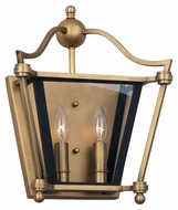 Maxim 22393CLNAB Ritz Natural Aged Brass 12  Wide Wall Lamp