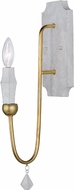 Maxim 22432CSTGL Claymore Contemporary Claystone and Gold Leaf Wall Sconce Lighting