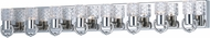 Maxim 24705CLPN Crystol Polished Nickel LED 8-Light Bathroom Vanity Lighting