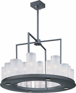 Maxim 32464FTTXB Urban Nights Modern Textured Black Chandelier Light