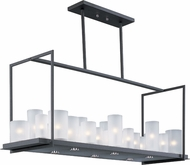 Maxim 32468FTTXB Urban Nights Modern Textured Black Kitchen Island Light