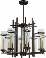 Maxim 43748CLGB Midtown Contemporary Gold Bronze LED Ceiling Chandelier