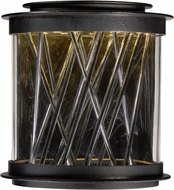 Maxim 53495CLTEPC Bedazzle Contemporary Texture Ebony / Polished Chrome LED Exterior Pier Mount