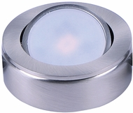 Maxim 53830SN CounterMax MX-LD-AC Contemporary Satin Nickel LED Disc Under Cabinet Lighting