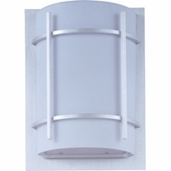 Maxim 55215WTBM Luna LED Contemporary Brushed Metal Outdoor Wall Sconce Lighting