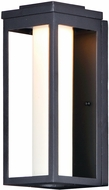Maxim 55904SWBK Salon LED Modern Black LED Outdoor Sconce Lighting