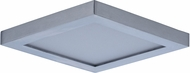 Maxim 57720WTSN Wafer LED Contemporary Satin Nickel LED Exterior Ceiling Lighting Fixture