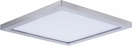 Maxim 57724WTSN Wafer LED Contemporary Satin Nickel LED Exterior Flush Mount Lighting Fixture