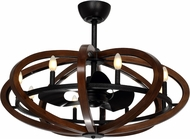 Maxim 60004APAR Fandelier Contemporary Antique Pecan and Anthracite LED Ceiling Fan