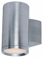 Maxim 6101AL Lightray Modern Brushed Aluminum Finish 5  Wide Exterior Wall Lighting Sconce