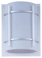 Maxim 85215WTBM Luna EE Contemporary Brushed Metal 12  Tall Outdoor Lamp Sconce
