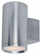 Maxim 86101AL Lightray LED Modern Brushed Aluminum Finish 5  Wide Exterior Wall Light Sconce