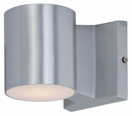 Maxim 86106AL Lightray LED Modern Brushed Aluminum Finish 4  Wide Exterior Wall Sconce