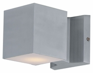 Maxim 86107AL Lightray LED Modern Brushed Aluminum Finish 4  Wide Exterior Wall Lighting